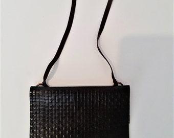 embossed calfskin shoulder bag