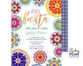 Fiesta Bridal Shower Invitation / Fiesta Engagement Invitation / Mexican Bridal Shower Invitation / Floral Bridal Shower Invitation /
