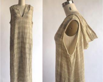 Vintage Brown Sugar Hooded Maxi Dress By PortoCruz Size XL