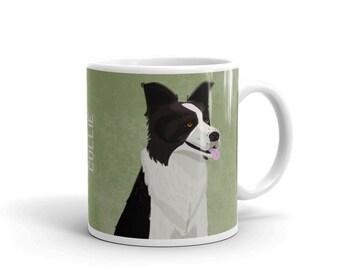 Dog Coffee Mug- Husband Gift- Border Collie Mug- Dog Mug- Dog Gift- for Dog Lover Gift for Him