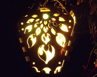 Leaf Wings  Wood Cut LED Lantern