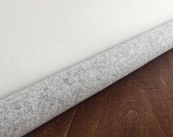 CLOUD gray door draft stopper // light gray wool custom draft guard