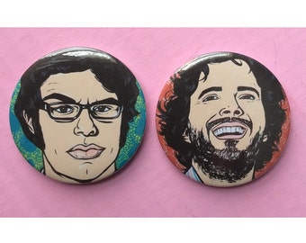 Flight of the Conchords Button and Sticker Pack