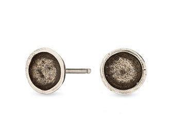 Darling Bowl Studs- Recycled Sterling Silver
