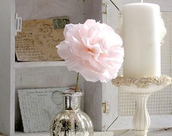 Linen Wedding Anniversary 4th year Gift Long Stem Flower for Her Wife Girlfriend Fiancee Linen Flower - Made to Order
