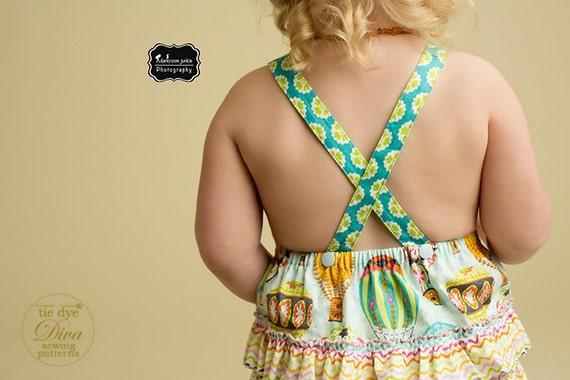 Baby Bubble Romper PDF Pattern Ruffled Sunsuit Sewing Pattern PDF