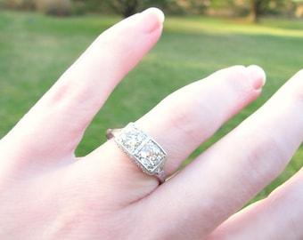 Antique Diamond Engagement Ring, Fiery Old European Cut Diamonds, appr 1.20 ctw, Exquisite Details in Platinum, Edwardian Era, Custom Sizing