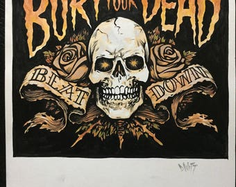 Bury Your Dead logo original art