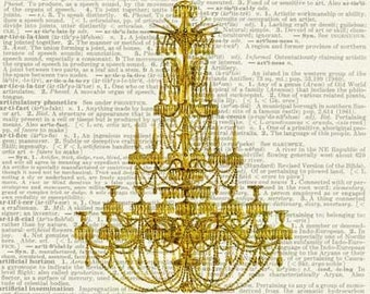 chandelier II dictionary page print