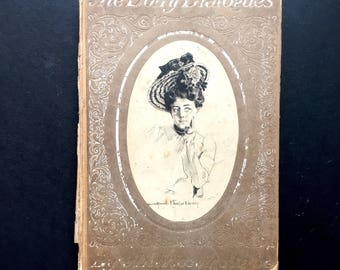 Antique Book, The Dolly Dialogues, Vintage Books, Hardcover Book, English Literature by Anthony Hope, Prisoner of Zenda, Victorian Book