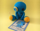 Jellybean the Amigurumi Blue Voodoo Doll