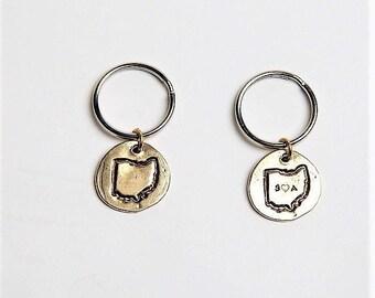 Ohio Keychain / Artisan Keychain / Personalized / Groomsman Gift / Bridal Gift / Graduation Gift