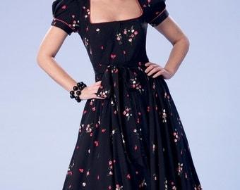 DIY Sewing Pattern-Butterick 6352-Pin up Girl Dress,Gothic Lolita Dres,Rockabilly 50's dress Size 6-14