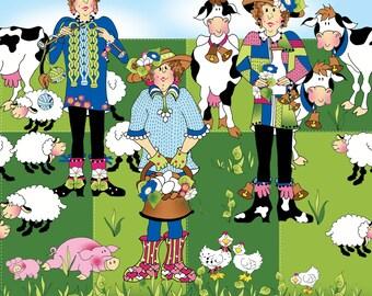 Morning Glory Farm Row Quilt Fabric Design