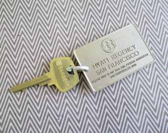 Vintage Hotel Fob and Key - Hyatt Regency San Francisco