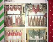 Uncut SIMPLICITY Home Decorating year 1999 Sewing Pattern No. 7465 - Window Treatments - Valances YMA47R