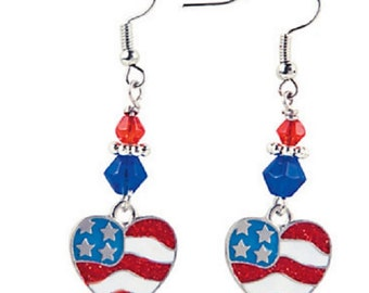 Heart Flag Earrings