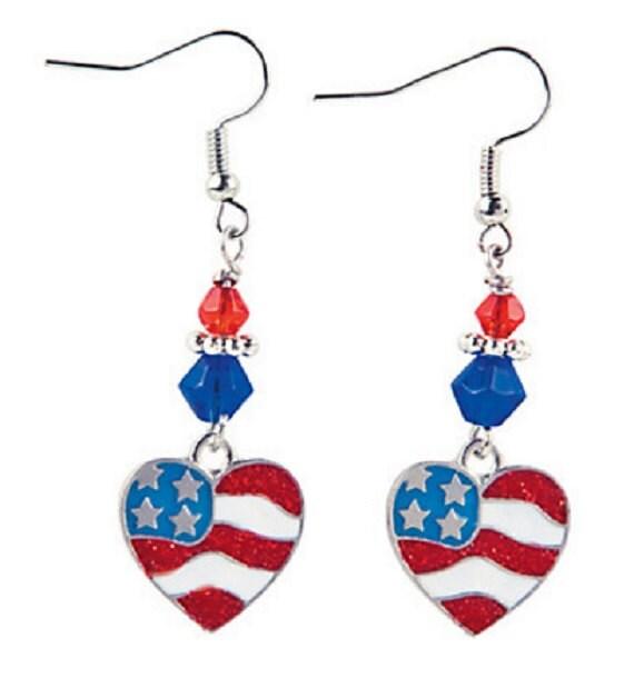 Heart Flag Earrings