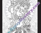 Single Coloring Page - Temptation from the Magical Beauties Collection - Download, Print & Color!
