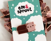 Cat Loaf Enamel Pin