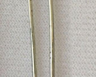 Silver Heart Hair Pin, Mexican milagro heart