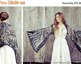 Goth Shawl, Gothic Wrap, Goth Clothing, Black Scarf, Black Fashion Gift, Bird Wings Scarf, Long Shawl, Maxi Wrap, Bridesmaid Wrap
