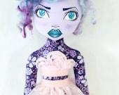 Cloth Fashion Doll - OOAK Art Doll - Vera