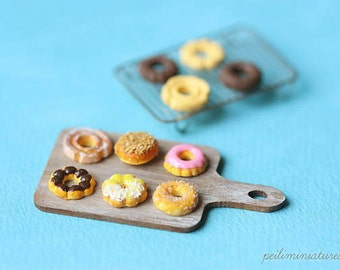 Dollhouse Miniature Food - Assorted Donuts - Miniature Donuts