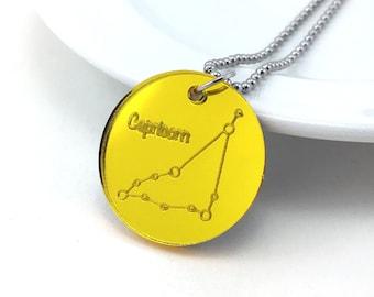 Capricorn Necklace, Constellation Necklace, Astrology Necklace, Zodiac Sign, Astronomy Jewelry, Zodiac Jewelry, Cosmic Jewelry Space Pendant