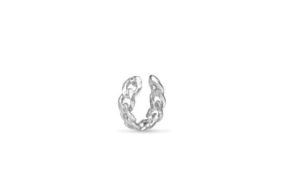Ear Cuff | Silver Ear Cuff | Adjustable Ear Cuff | Chain Link Ear Cuff | Modern Ear Cuff | Minimalistic Ear Cuff