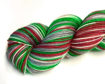 You'll Shoot Your Eye Out--hand dyed sock yarn, merino and nylon, (463yds/100gm)