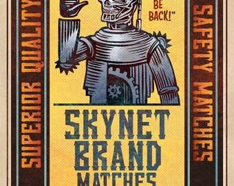 """Terminator Matchbox Art- 5"""" x 7"""" matted signed print"""