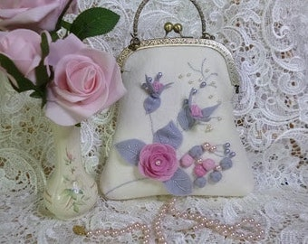 Wool Felt Rose Bag