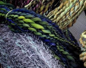 Paddy's Luck - 3 ply handspun art yarn 5.3 oz 126 yards - one of a kind