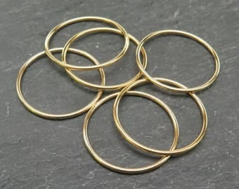 Gold Filled Stacking Ring 20mm ~ Size P/8/56 (CG7330)
