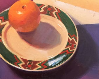 """Art painting still life by Sarah Sedwick """"Six Inches"""" 10x10"""""""