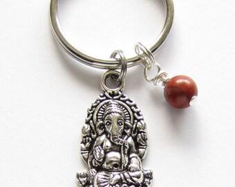Ganesha, 1st Chakra, Root Chakra Keychain, or Boho Chic, Yoga Bag Charm