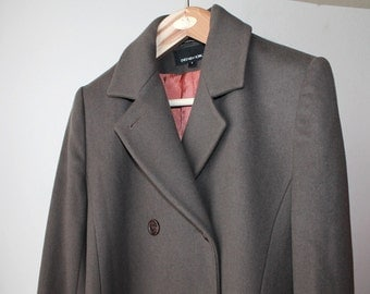 SALE - 1990's Jones New York Taupe Long Coat