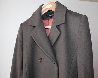 SALE - 1990's Jones New York Taupe Long Coat
