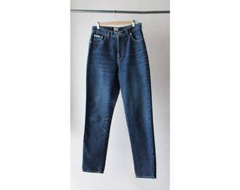 1990s CK Calvin KleinDarkwash High Waist Jeans