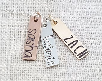 Custom Name Necklace - Personalized Bar Necklace - Personalized Gift For Her - Gift - Personalized Jewelry  - Mother's Day Gift - Mom GIft