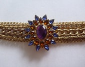 RESERVED LISTING multi strand rhinestone bracelet. bijou bracelet