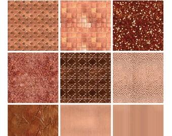 Digital Texture Pack - Copper Metallic Sampler 1 (Illustrator CS5/5.5+ & Photoshop)