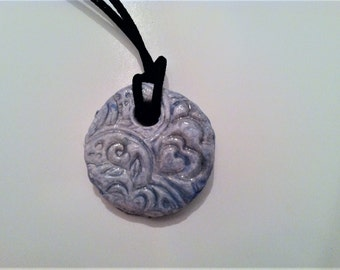 Aromatherapy Essential Oil Diffuser Jewelry Ceramic Pottery  Bohemien Style  Necklace Pendant