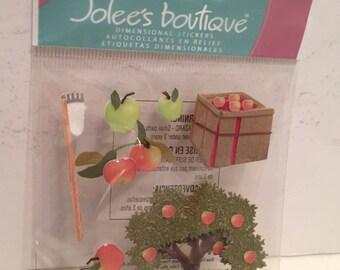 Jolee's Boutique, Apple Picking, Scrapbook Embellishment, Dimensional Sticker, Cards, Tags, Crafting Supply, EK Success