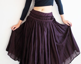 Sweet spot...2 layers full maxi skirt...Linen/cotton  Colour No.4/No.17 M,L,XL