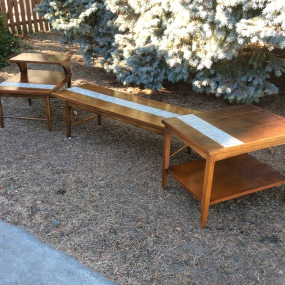 Mid Century Coffee Table And End Tables: HOLD Mid Century Coffee Table And End Tables Lane Tile
