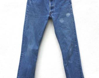 LEVIS 501 Waist 29 High Waist Levi Boyfriend Jeans Levi's Button Fly