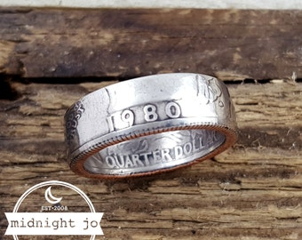 1980 Coin Ring Your Size Quarter Double Sided MR0705-Tyr1980
