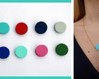 Layered Double Handpainted Dots Charm Necklace